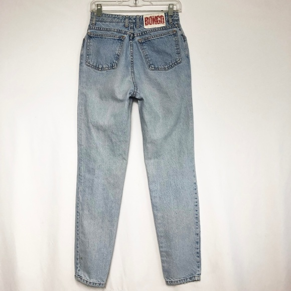 BONGO Denim - Bongo Vintage 80s Button Fly Mom Jeans Light Wash